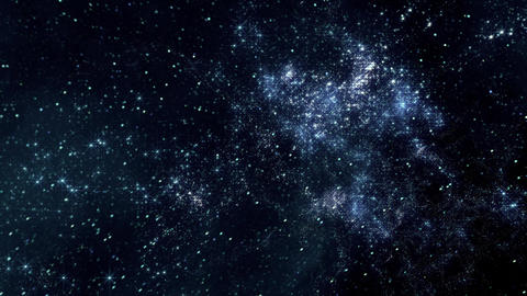 Space 2122: Flying through star fields in deep space Animation