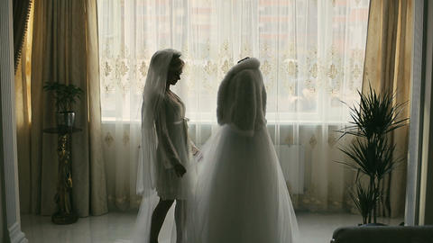 Bride and white dress Footage