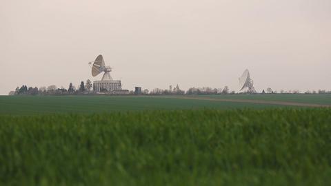 Observatory antenna center in Ukraine Footage