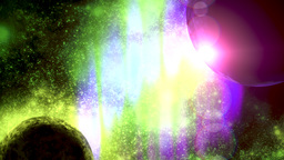 Deep space planetary background Filmmaterial
