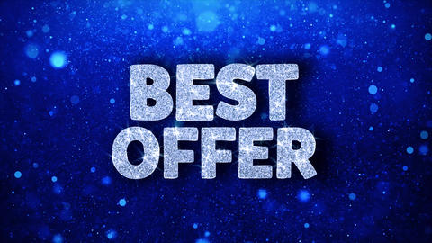 Best Offer Blue Text Wishes Particles Greetings, Invitation, Celebration Live Action