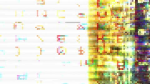 Data Glitch 006: Streaming data distortion Animation