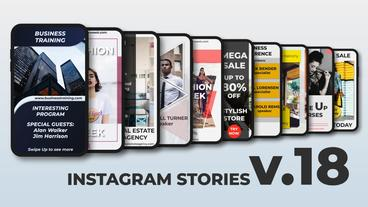 Instagram Stories v 18 After Effects Template