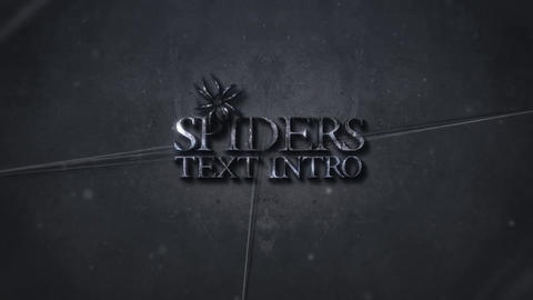 SPIDERS TEXT INTRO After Effectsテンプレート