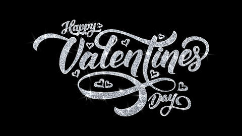 Valentine Day Blinking Text Wishes Particles Greetings, Invitation, Celebration Footage