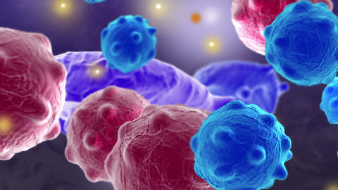 Cancer Cells With High Details Animation