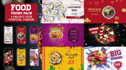 Food Promo Pack After Effects Template