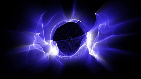 Light FX2001: Radial waves of fractal blue light shine Animation