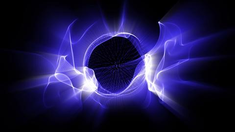 Light FX2001: Radial waves of fractal blue light shine Animation