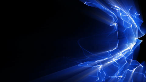 Light FX2002: Waves of blue light shine Animation