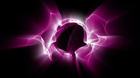 Light FX2005: Fractal waves of undulating pink light Animation