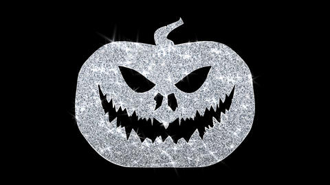 Happy Halloween Element Blinking Element Icon Particles Greetings, Invitation Footage