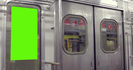 Billboard Ad with Green Screen in subway– Croma Key Live Action
