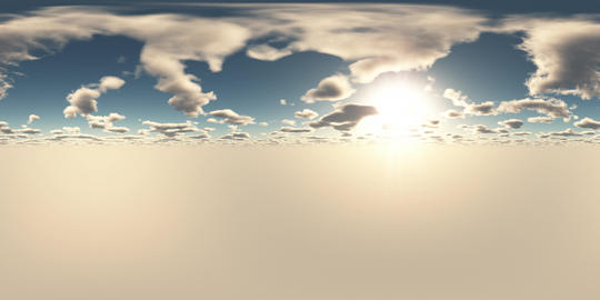 VR 360 degree Panoramic Sky and Clouds. ready for use in 3D environment Live Action