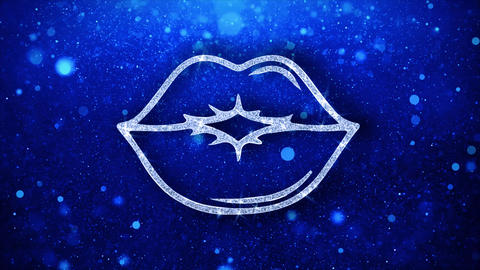 Kiss Element Blinking Element Icon Particles Greetings, Invitation, Celebration Footage
