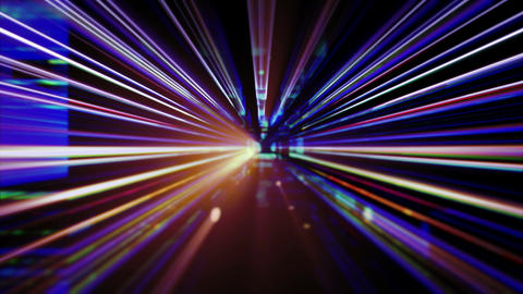 Light FX2032: Futuristic technology light abstraction flickers and flares Animation