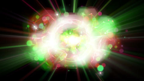 Light FX2049: Christmas lights flare, burst, shine and pop Stock Video Footage