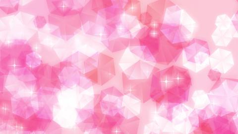 ループ ピンク キラキラ 宝石 パステル 上昇 CG動画