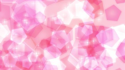 ループ ピンク キラキラ 五角形 パステル 上昇 CG動画