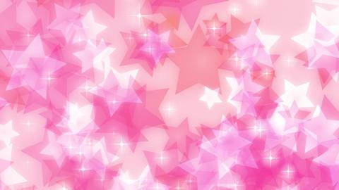 ループ ピンク キラキラ 星 パステル 上昇 CG動画