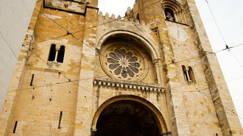 view of the cathedral of S , located in Lisbon, is one of the most important Archivo