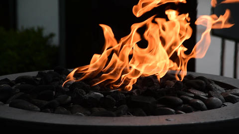 outdoor fire pit Footage