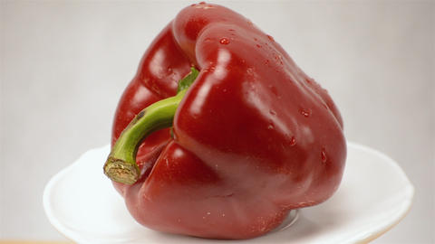 Pepper Red Close Up Rotation Stock Video Footage