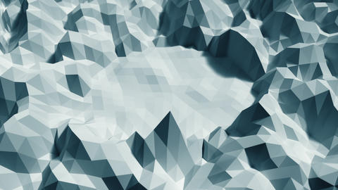 Low poly Background Loop center space - Ice blue Animation