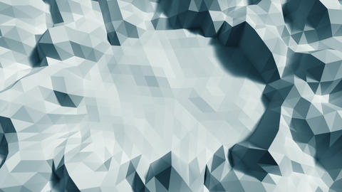 Low poly Background Loop center space Close Top view - Ice blue Animation