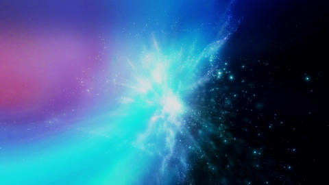 Space 2151: Flying through star fields in space Animation
