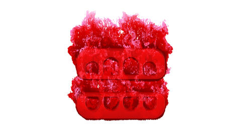 Symbol teeth open inflames with dark fire, then burns. In - Out loop. Alpha channel Premultiplied - Animation