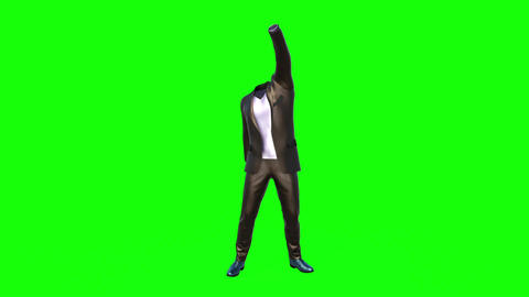[alt video] clothes dancing without a man green background