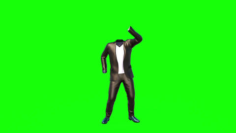 clothes dancing without a man green background GIF