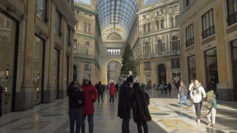 Galleria Umberto I, inside view. Naples, Italy Archivo