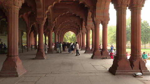 Delhi, India, 29 MAR 2019 - Interiors of Red Fort in Delhi, India, Fort was the Live Action