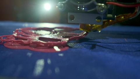 Medical printer skin. The printer prints artificial skin for transplanting a Footage