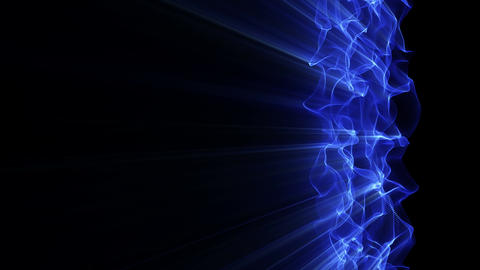 Light FX2056: A vertical blue light waveform ripples and shines Animation
