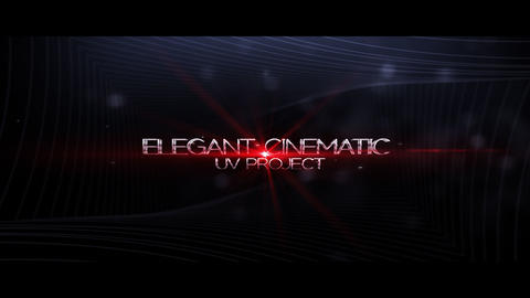 Elegant Cinematic After Effectsテンプレート