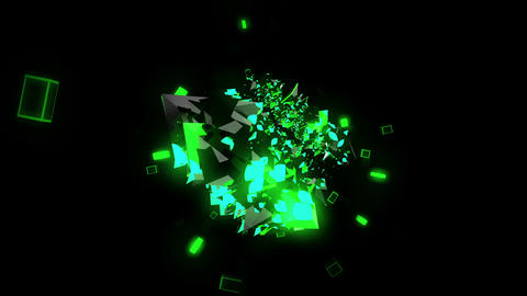 Green Abstraction 4K 03 Vj Loop Animation