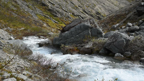 Mountain river slow motion Footage