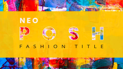 Neo Posh Fashion Title After Effects Template