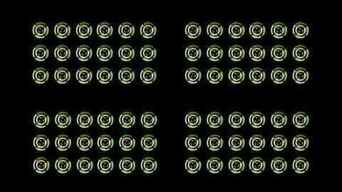 Stereo Speakers glows spinning. Background abstract animation Live Action