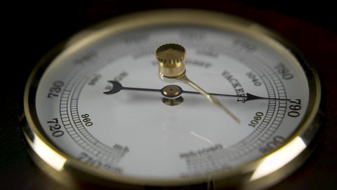 Barometer Close up Rotating Live Action