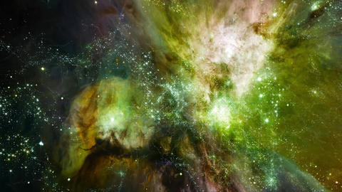 Space 2142: Flying through star fields in deep space Animation