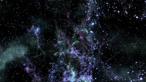Space 2161: Flying through star fields in space Animation
