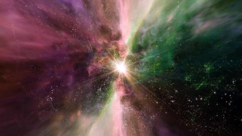 Space 2162: Traveling through star fields and galaxies in space Animation
