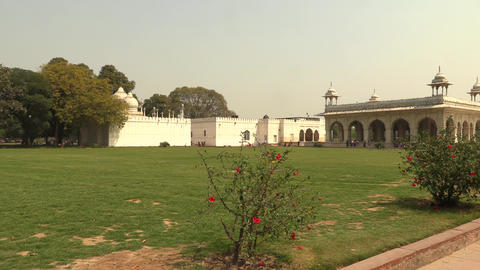 Hall of Private Audience Diwan I Khas in historic Red Fort is constructed of Footage