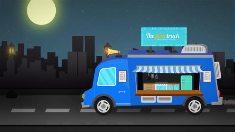 Food Van Logo Reveal After Effects Template