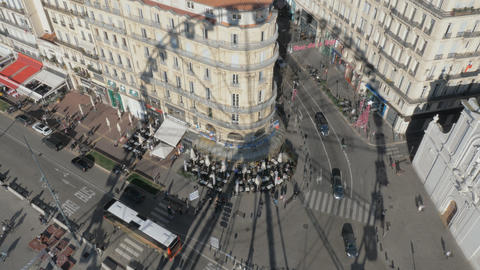 Observing Marseille street from the Ferris wheel, France Archivo