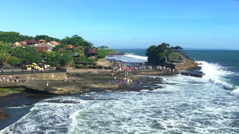 Ocean Temple Bali indonesia Pura Tanah Lot, 4k footage video Footage